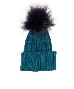 Inverni | Cashmere Fur Bobble Hat
