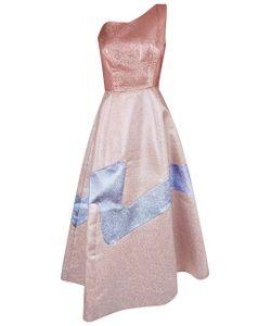 Vika Gazinskaya | Lurex Panel One Shoulder Dress