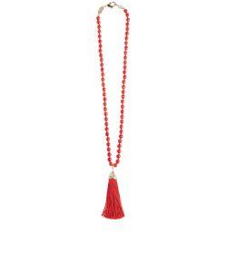 Rosantica   Beaded Tassel Platea Necklace