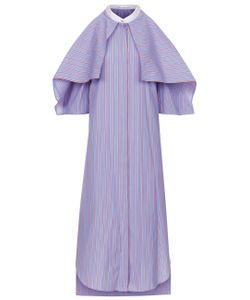 Rosetta Getty | Ruby Striped Foldover Shirt Dress