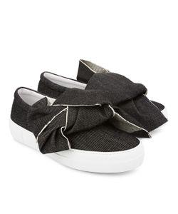 Joshua Sanders | Denim Bow Slip-On Sneakers