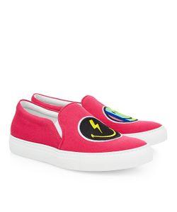 Joshua Sanders | Fluro Rainbow Smile Slip-On Sneakers