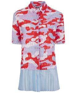 Arthur Arbesser | Camo Lace Pleated Hem Shirt