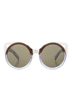 Linda Farrow | Two-Tone Cat Eye Sunglasses