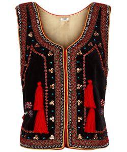 Vilshenko | Velvet Embellished Nadia Waistcoat