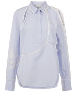 3.1 Phillip Lim | Pale Embroidered Sleeve Shirt