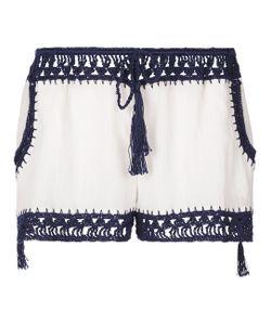 Anna Kosturova | Navy Giza Crochet Shorts