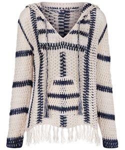 Anna Kosturova | Ivory Navy Cape Cod Crochet Hoodie