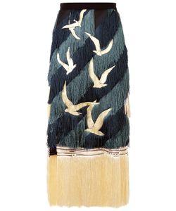 Marco de Vincenzo | Tonal Fringe Embroidered Skirt