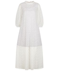 Paskal | Milk Embroidered Overlay Dress