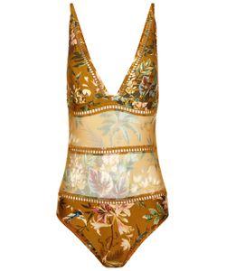 Zimmermann | Mustard Tropical Swimsuit