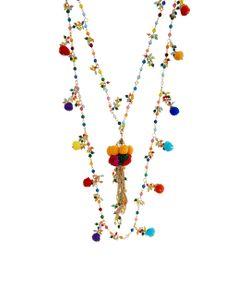 Rosantica   Beaded Pom Pom Cancun Layered Necklace
