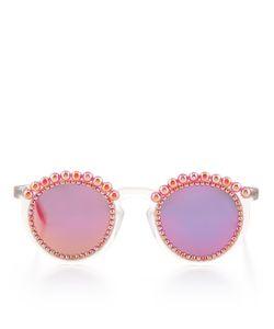 Freda Banana | Fire Mirrored Tosca Pearl Sunglasses
