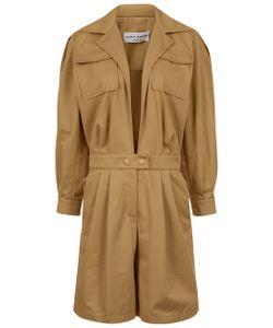 Sonia Rykiel | Stone Gabardine Cotton Short Jumpsuit