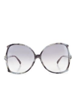 Linda Farrow | Marble Oversized Butterfly Sunglasses