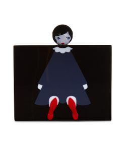 Lulu Guinness   Perspex Chloe Doll Clutch