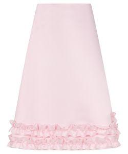Paskal   Bubblegum Frill Trim A-Line Skirt