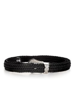 Y / Project | Leather Braided Western Belt