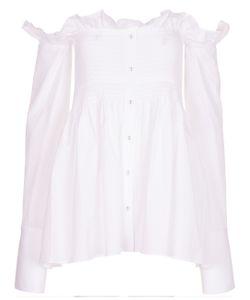 Victoria, Victoria Beckham | Smocked Off The Shoulder Shirt