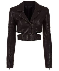 Haider Ackermann   Leather Cropped Biker Jacket