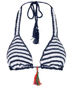 Anna Kosturova | Sailor Striped Crochet Bikini Top