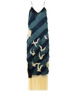 Marco de Vincenzo | Tonal Fringed Bird Strap Dress