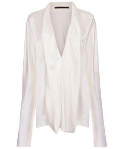 Haider Ackermann | Ivory Silk Dali Draped Shirt