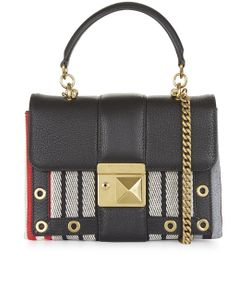 Sonia Rykiel | Multi Stripe Leather Cross Body Bag