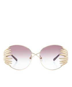 Linda Farrow | Feather Oversized Sunglasses