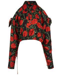 Alexander Wang | Nocturnal Rose Print Cropped Shirt