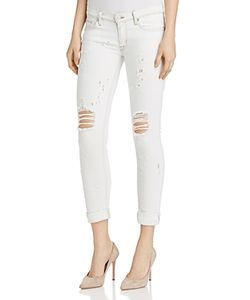 Hudson | Tally Roll Crop Distressed Jeans In