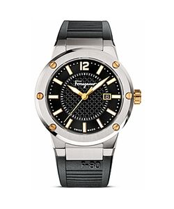 Salvatore Ferragamo   F-80 Stainless Steel Watch 44mm