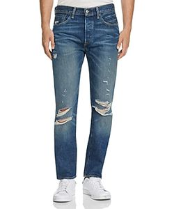 Levi's | 501 Distressed New Tapered Fit Jeans In