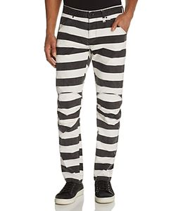 G-Star Raw | Elwood X25 Prison Stripe New Tapered Fit Jeans By