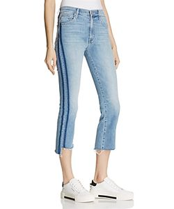 Mother   Insider Crop Step Fray Jeans In 100