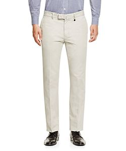 Z Zegna | Cotton Stretch Gabardine Slim Fit Trousers