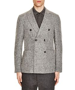 Z Zegna | Peak Lapel Double Breasted Slim Fit Sport Coat