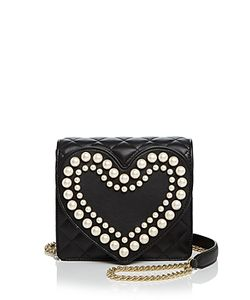 Boutique Moschino | Heart Faux-Pearl Shoulder Bag