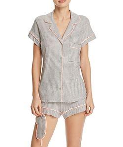 Eberjey | Naval Stripes Short Pajama Eye Mask Set