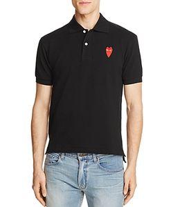 Comme Des Garçons Play | Comme Des Garcons Play Long-Heart Slim Fit Polo Shirt