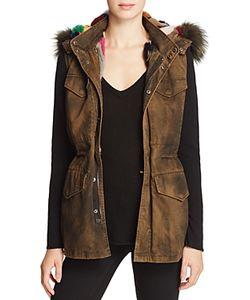 Jocelyn   J. Military Color Fur-Lined Vest 100 Exclusive
