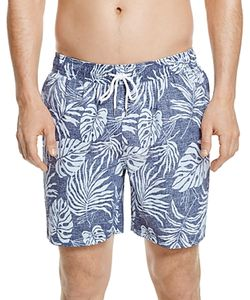 Brooks Brothers | Tropical Leaf Print Swim Trunks