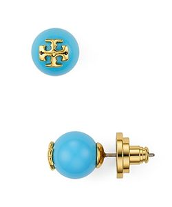 Tory Burch | Round Logo Stud Earrings