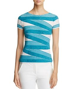 Armani Collezioni | Textured Striped Top