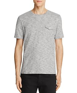 Michael Bastian | Textured Space Dye V-Neck Pocket Tee