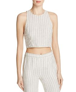 Theory | Nikayla Striped Crop Top