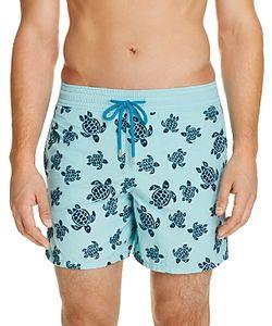 Vilebrequin | Moorea Flocked Turtles Swim Trunks