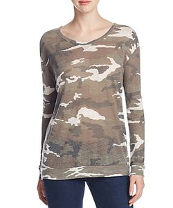 Majestic Filatures | Camo Print Drop Shoulder Tee