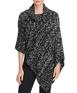 Eileen Fisher   Asymmetric Marled Knit Poncho 100 Exclusive