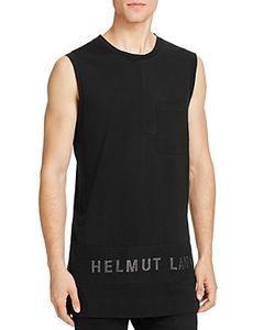 Helmut Lang | Mesh Panel Logo Muscle Tee